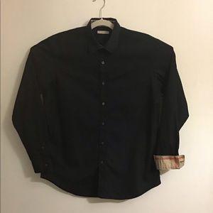 Burberry Brit black button up. Large